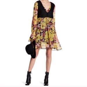 NWT Free People Alice mini vest floral dress